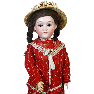 Antique German Bisque Head Doll Max Handwerck