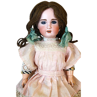 Rare French Antique Bisque Head Doll Heubach Jumeau 1907