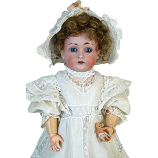 Antique German Bisque Head Doll Johann Daniel Kestner JDK 167