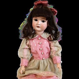 Antique German bisque head doll Adolf Wislizenus