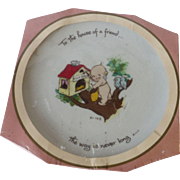 """Kewpie Decorative Souvenir Plate """"To the House of a Friend The Way is Never Long"""" 1973"""