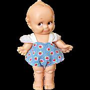 """Vintage 1974 Cameo KEWPIE JLK 10"""" Floral Sun suit 733/1 Side glance Baby Doll"""