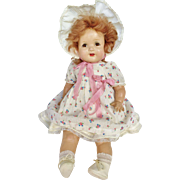 Vintage 1930's Composition American Character Chuckles Little Love Baby Doll 18""
