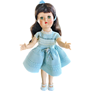 "Ideal P-90w 14"" Toni walker fashion doll dark brunette high color gorgeous 1950's hard plastic"