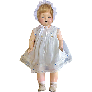 "1923 Effanbee Big 29"" Alice Lee Baby Toddler doll Original Composition Cloth Betty sister"