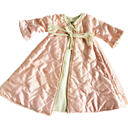 "1940's Effanbee Dy Dee Jane rare pink Satin quilted robe coat Baby doll & friends 13"" to 16"""