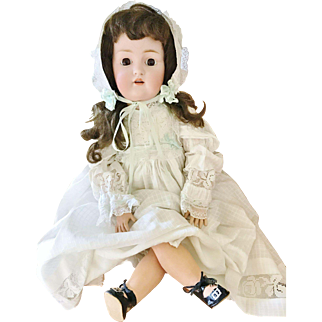 """Antique Early 1900's JDK Kestner 214 Germany Bisque Composition 24"""" Baby girl Doll Ball Jointed open mouth"""