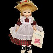 "1960's Madame Alexander McGuffey Ana 1525 13"" Baby Doll IN BOX with tag vinyl Anna"