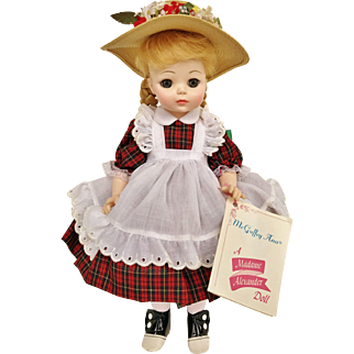 "1960's Madame Alexander McGuffey Ana 1525 13"" Baby Doll IN BOX with tag vinyl Anna"