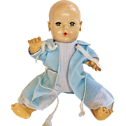 "Factory Tagged vintage sweet Blue bath robe Pajama over coat for your 16"" Effanbee Dy Dee Baby Doll or friends"