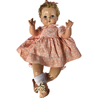 "1940's Effanbee Sweetie Pie flirty eye Baby Doll Dainty 18"" cutest ever!"