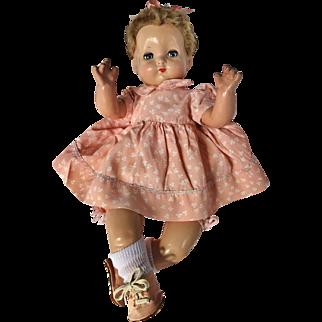 """1940's Effanbee Sweetie Pie flirty eye Baby Doll Dainty 18"""" cutest ever!"""