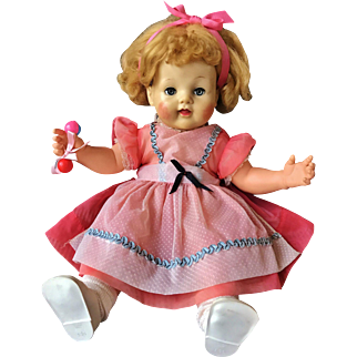 "1952 Ideal Baby Ruth Magic Flesh Skin Doll 20"" Beautiful rare"