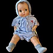 "Vintage Horsman 1937 Brother Baby Doll Composition 21"" Horseman Boy"