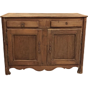 French Antique Louis XVI Oak Buffet Cabinet
