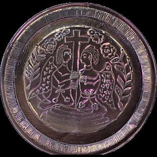 19th Century Brass Circular Alms Dish