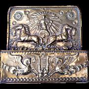 Late 19th Century Brass Embossed box