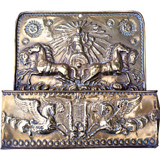 Late 19th Century Brass Embossed box