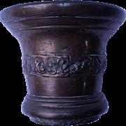 Bronze Mortar & Pestle cast with shells