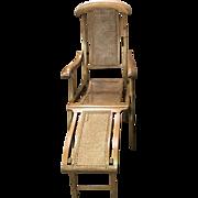 Late Victorian/Edwardian steamer deck chair