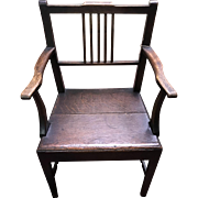 Late 18th Century Oak Arm Chair