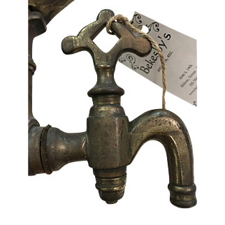 Early 20th Century Brass and Copper Water Pump