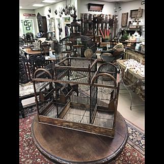 Antique Wood and Metal Birdcage