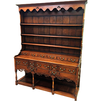 Welsh Dresser, Oak and Mahogany, 1860-1890