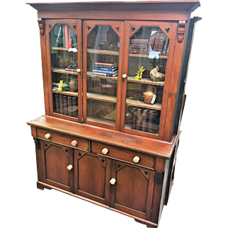 1850-1880 English Victorian Mahogany Bookcase