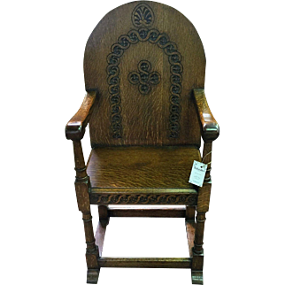 1920's Oak Hall chair