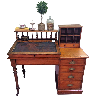 19th Century Pitch Pine desk