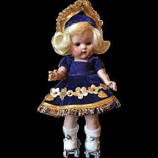 Vintage Vogue Strung Ginny Doll Gadabout Roller Skater 1953