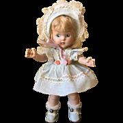 Vintage Vogue PE Hard Plastic Doll, Tagged Dress