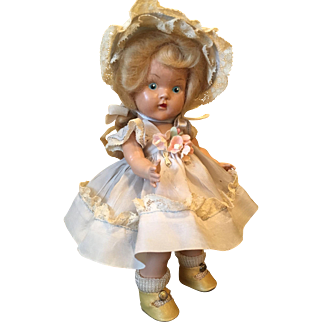 Vintage Vogue PE Strung Ginny Doll Laury 1949