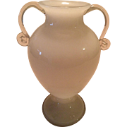 Beautiful Kralik Czech Bohemian White Opaline Vase Signed ca. 1930