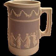 W.T. Copeland Spode Light Grey Dancing Maidens Milk Pitcher Marked ca. 1894-1910