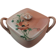 Rare 1891 Rookwood Pottery Box with Flower Pattern Cover Signed Olga Reed