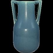 Rookwood Matte  Blue Vase with Handles 1930 Shape 2562