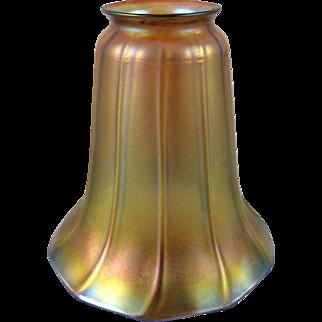 Quezal Gold Iridescent Lamp Shade ca. 1901-1924 Signed