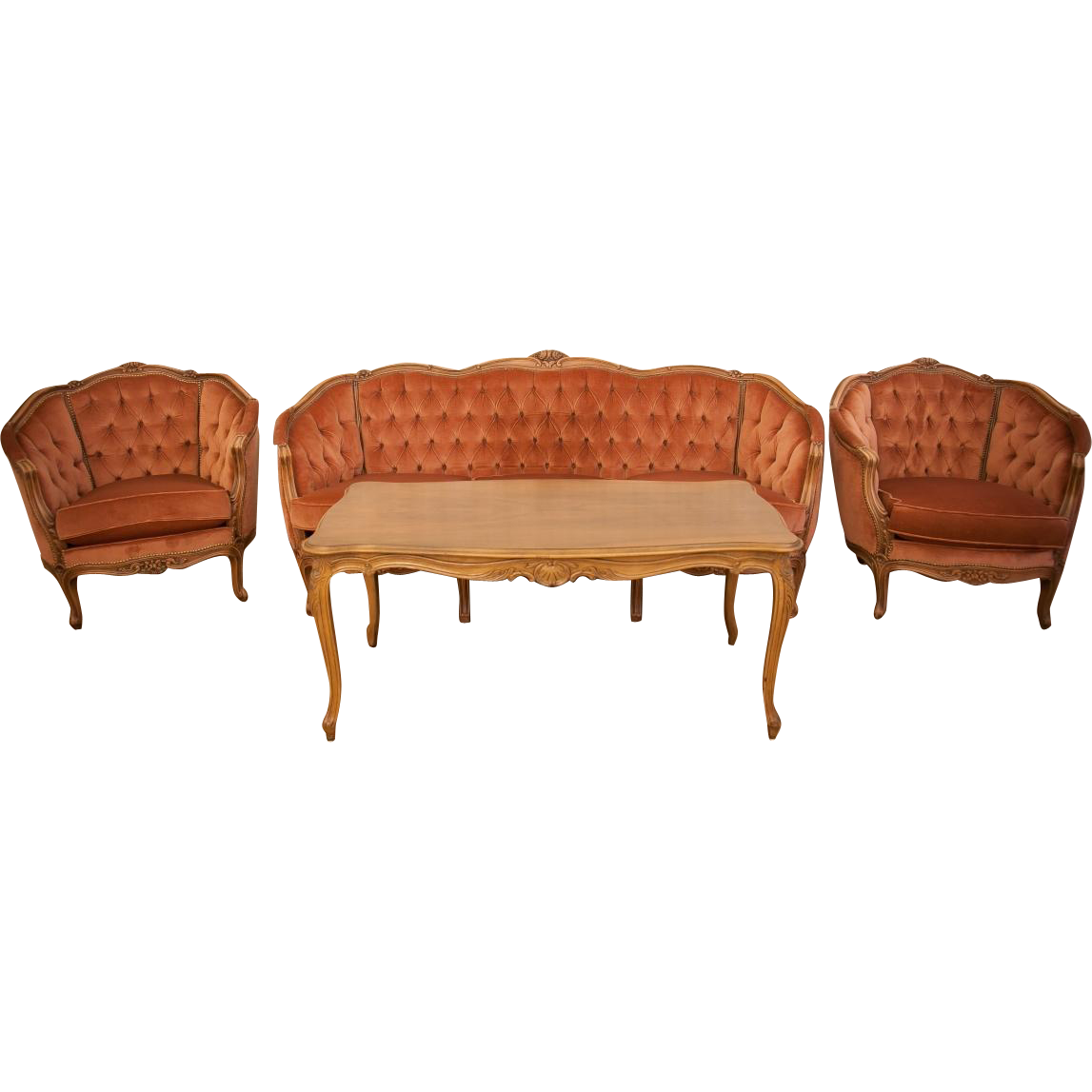 louis xv living room set from 2nd half of 20th century from antique