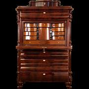Biedermeier Secretaire from ca. 1860 veneered mahogany wood