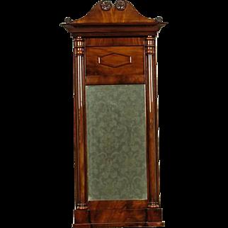 Biedermeier Mirror in Mahogany Frame approx. 1860 - Northern Europe