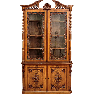 Late Empire Mahogany Bookcase from ca. 1840 - Northern Europe