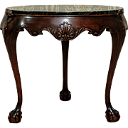 Neo-Rococo Table with Marble Top from ca. 1933 - Denmark
