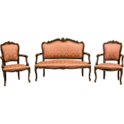 French Living Room Set in Rococo Style end of 19th Century - 3 parts