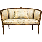 Sofa with Pillow and Two Chairs in Gustavian Style 1800/1900 North Europe