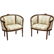 Pair of Armchairs in Gustavian Style 1800/1900 North Europe