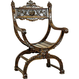 Oak Dantes Chair from 1880 - Italy