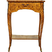 Exquisite Intarsiated Small Table, beginning of the 20th Century