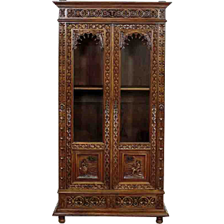 Breton Style Bookcase from 1880 - France